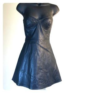 """FOREVER 21 sz S """"pleather"""" cocktail bustier dress"""